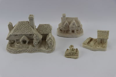Lot Of 4 David Winter Cottages Unpainted Houses Mint Condition