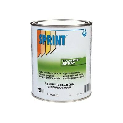 F18 SPRAY FILLER GREY 750ml  + Härter  POLYESTER SPRITZSPACHTEL