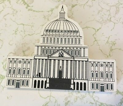 The Cat's Meow Village Washington DC Series U.S. CAPITOL Wooden Collectible
