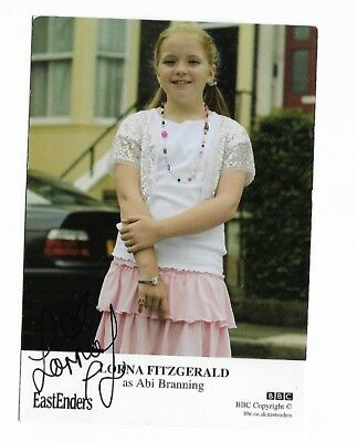 Lorna Fitzgerald as Abi Branning BBC Eastenders Hand  Signed Cast Card 6 x 4