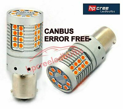 New 2018 Canbus 48W P21W 382 Ba15S 1156 Brightest Led Amber Indicator Bulbs