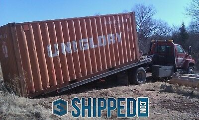 USED 20' SHIPPING CONTAINER for HOME BUSINESS STORAGE WE DELIVER NEW YORK CITY