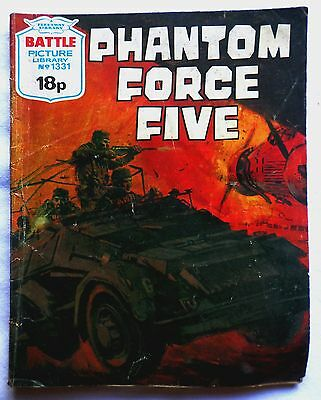 BATTLE PICTURE LIBRARY No 1331. PHANTOM FORCE FIVE. 1979.