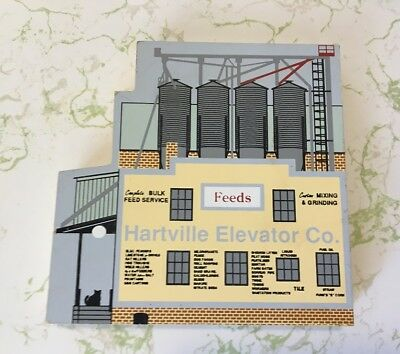 The Cat's Meow Village Hartville Elevator Company Ohio Wooden Collectible