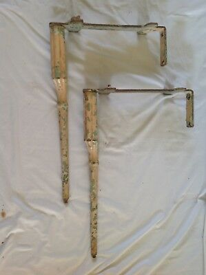 "Vintage Belfast Butler Sink Cast Iron Legs Stand 23"" High. Reclaimed Distressed"