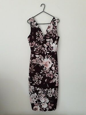 maternity occasion dress size 10, burgundy floral from ASOS