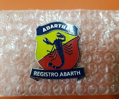Stemma,placca,badge Registro Abarth,lancia Fiat Alfa Romeo Rally Made In Italy