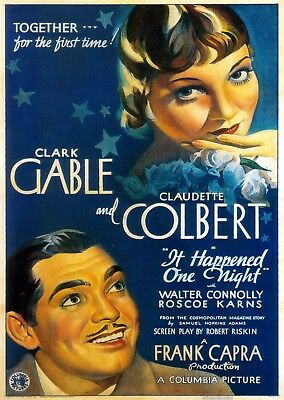 It Happened One Night Vintage Movie Wall Art Poster Print Maxi A1 A2 A3 A4 A5