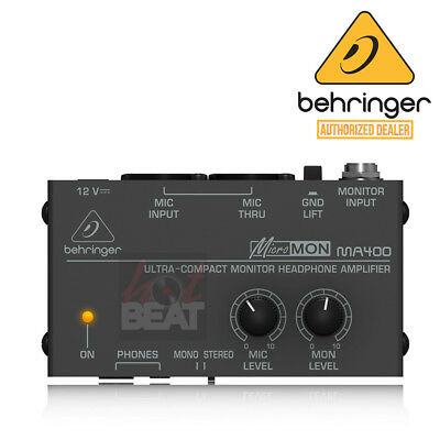 Behringer MICROMON MA400 Compact Personal Monitor Mixer Headphone Amplifier