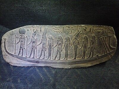 EGYPTIAN ANTIQUES  ANTIQUITIES Goddess Sun Boat Stela Relief Plaque 1211-1275 BC