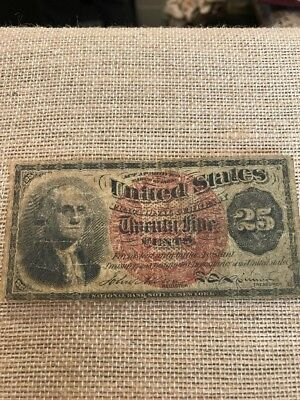 1863 Fractional Currency Fr. 1301-1302 Fourth Issue Washington 25 cents