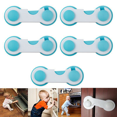 5 /10Pc Kids Baby Security Cupboard Safety Locks Pet Home Door Fridge UK Stock