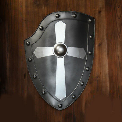 D33 Europe Retro Medieval Shield Antique Knight Armour Wall Home Decor Full Size