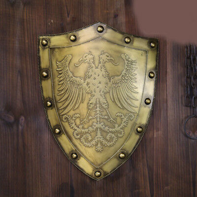 D23 Europe Retro Medieval Shield Antique Knight Armour Wall Home Decor Full Size