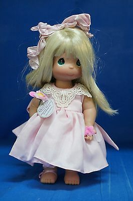 """Precious Moments 12"""" Vinyl Doll Signed 4312 He Loves Me"""