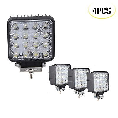 4X 48W 12V 24V LED Work Light Flood Light OffRoad ATV SUV Boat Jeep Truck