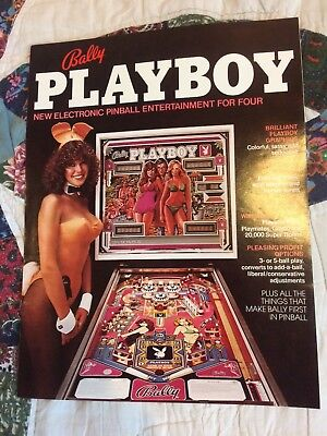 Original bally Playboy pinball machine  flyer brochure