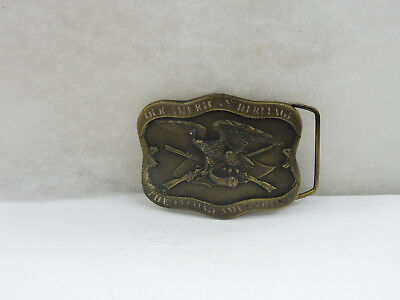 Vintage 1977 Second Amendment Belt Buckle Cast Relief American Heritage Eagle