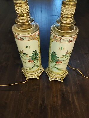 *Fine China Lamps* Two Boutique Chinese Style Hand painting Porcelain Lamps