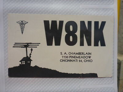 Old Vintage Qsl Ham Radio Card. Cincinnati, Ohio. 1962