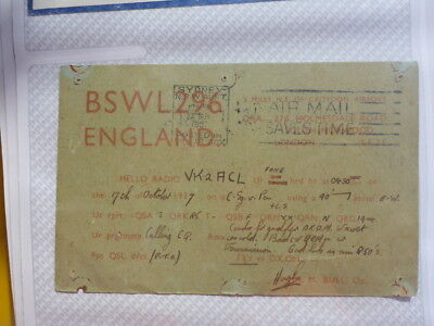 Old Vintage Qsl Ham Radio Card. Sourth Norwood, England. 1937