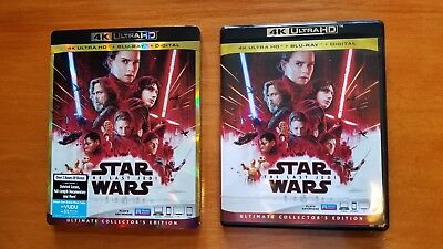 Star Wars: The Last Jedi 4k Ultra HD and blu ray with Slipcover Disney