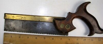 OLD TOOLS... Vintage Dovetail Saw, Fitzwilliam, antique tool