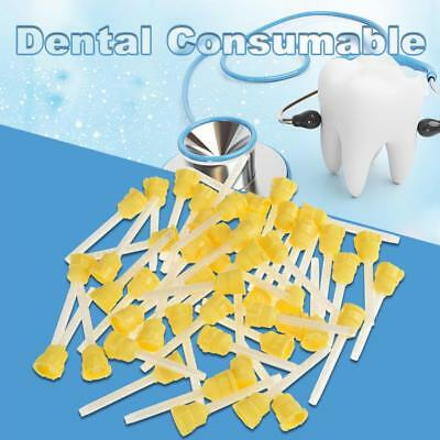50Pcs 70mm Disposable Dental Silicone Rubber Impression Mixing Tip Rubber 1:1