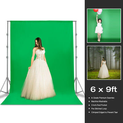 6x9ft Green Backdrop Photography Background Photo Video Studio Wrinkle Free