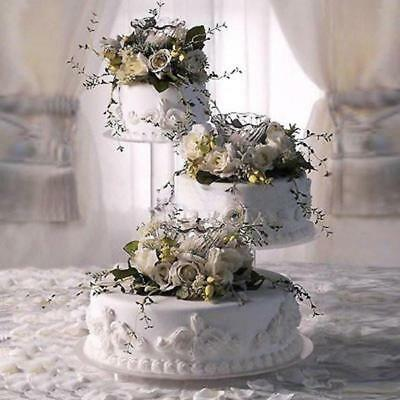 "3 Tier Cascade Wedding Cake Stand  8"",12"",14"" Plate Xl  (Style R303)"