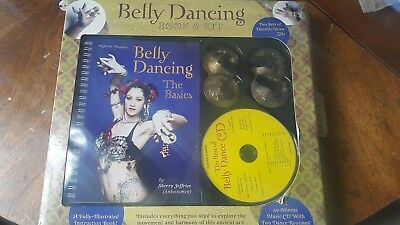 BELLY Dancing Book & KIT CD NEW FREE SHIPPING 4 BRASS ZILLS Learn to DANCE FUN!!