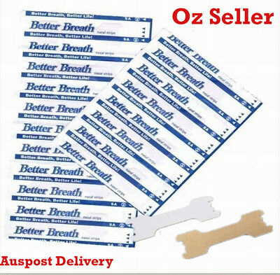Better Breath stop snoring snore Nasal Strips 200 Large Size breathe ozidream Au