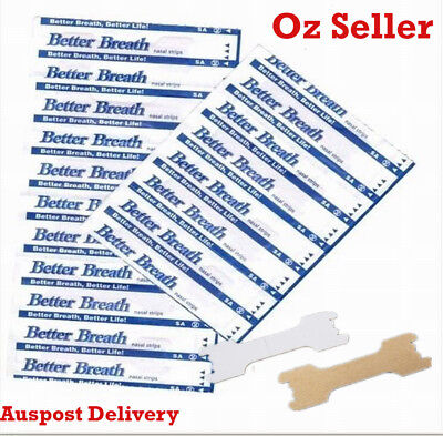 Better Breath stop snoring snore Nasal Strips 100 Large Size breathe ozidream Au