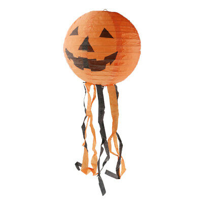 Halloween Pumpkin Hanging Lantern Foldable Party Decoration 12 inch