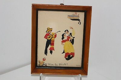 "1939 Original Artwork ""viva La Fiesta"" Fiesta At Taos New Mexico-E. Luella Case"