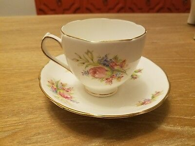 antique duchess bone china tea cup with saucer. made in england