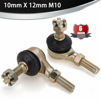 2x Tie Rod Ball Joint 10mm X 12mm for 50cc - 250cc cc Chinese ATV Quad 4-Wheeler