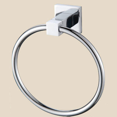 Stainless Steel Towel Ring Wall Mounted Chrome Round Towel Rings Rack Holder H
