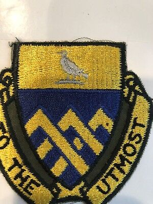 """101st Armored Cavalry Regiment """"TO THE UTMOST"""" ACR WWII 1939-1945 Stk # 195"""