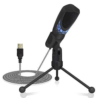 Tonor PC Gaming Microphone Professional Condenser Recording Streaming Mic Black