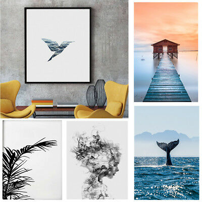 Modern Nordic Prints Sea Leaf Canvas Art Poster Print Wall Non-Framed Pictures