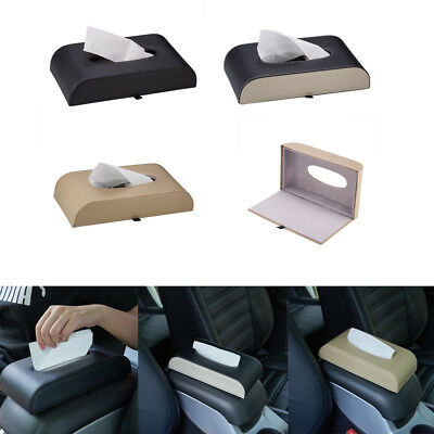 PU Leather Rectangular Tissue Box Cover Holder Home Office Desk Car Dashboard