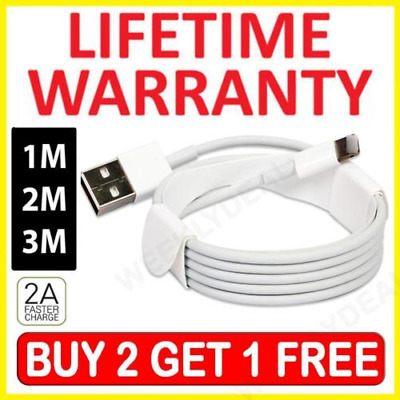Extra LONG Lightning Sync Charger Chariging USB Data Cable For iPhone 6 7 8 X 10