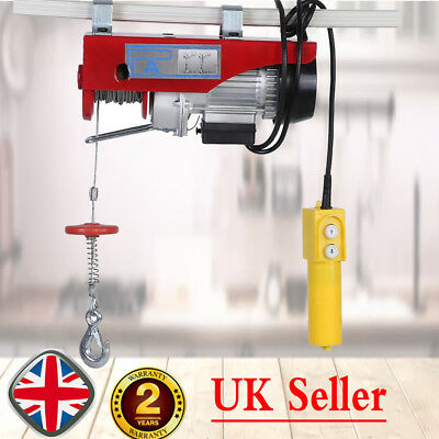 Electric Lever Winch Hoist 200kg Scaffold Mounted Garage Workshop Pulley 6m 12m