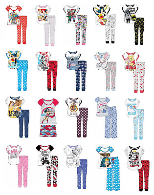 Womens & Old Girls Character Pyjamas Set Disney Nightwear Marvel Sleepwear 8-22
