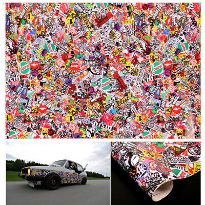 "Graffiti JDM Bomb Car Auto Wrap 20""x30"" Decal Waterproof Vinyl Sticker HOT"