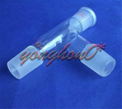 24/29,Three way Glass adapter,75 degree bent,distillation head,Pyrex Labware