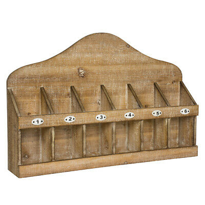 Rustic Wooden Wine Rack - Vintage Distressed Wall or Surface Top Bottle Holder