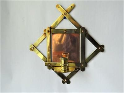 Arts & Crafts Style Vintage Copper & Brass Wall Sconce