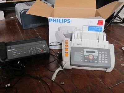 TWO SAMSUNG FAX MACHINES for Spares Philips & Samsung.